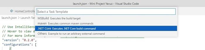 Visual Studio Code'da ASP.Net Core MVC Projesinin Debug Edilmesinin Ayarı Nasıl Yapılır?